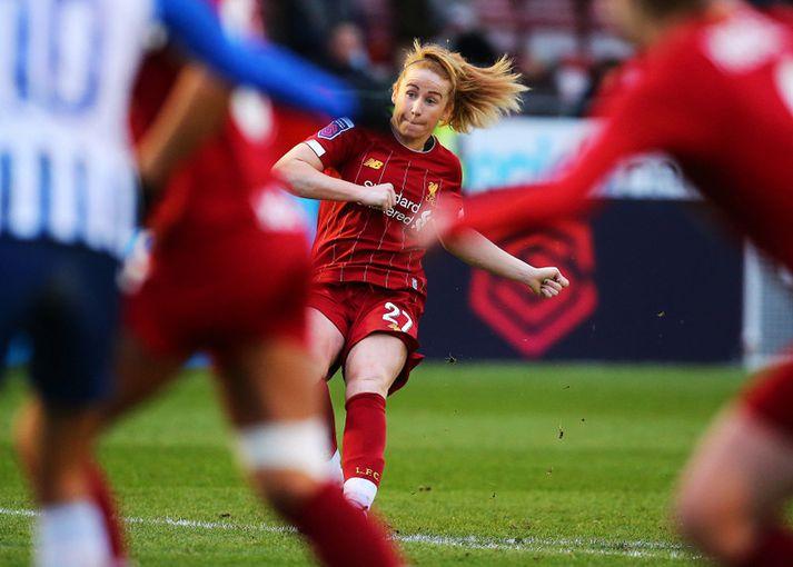 Rachel Furness í leik með Liverpool.