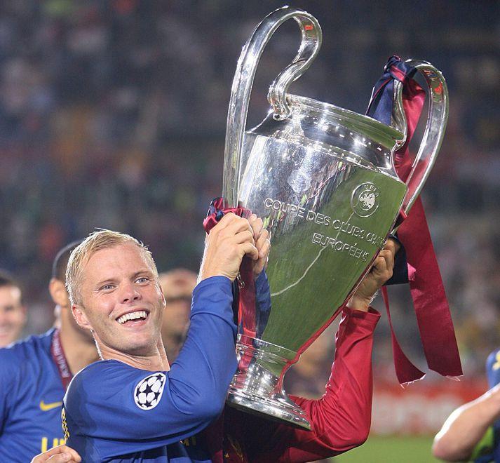 Eiður Smári Guðjohnsen fór frá Chelsea til Barcelona og var hluti af einu albesta knattspyrnuliði allra tíma.