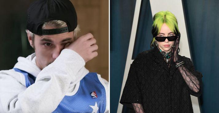 Bieber vill greinilega ekki sjá Eilish fara sömu leið og hann sjálfur.