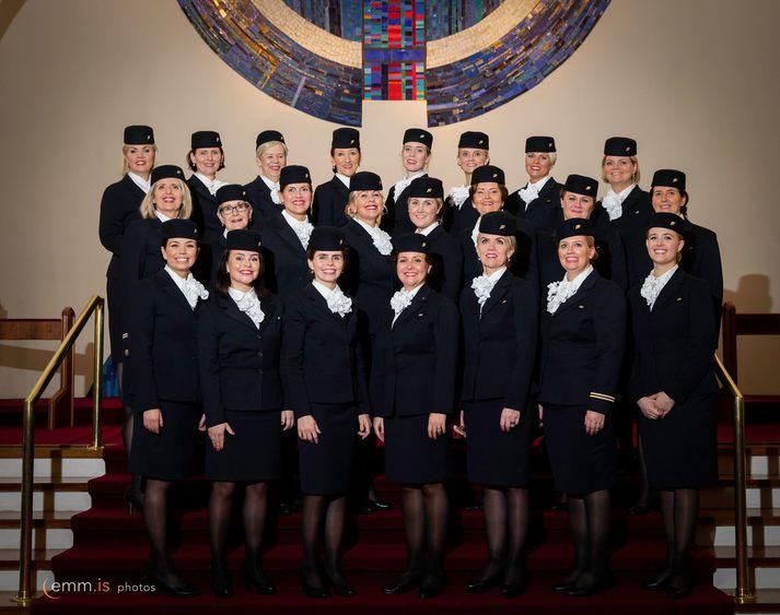 Flugfreyjukór Icelandair.