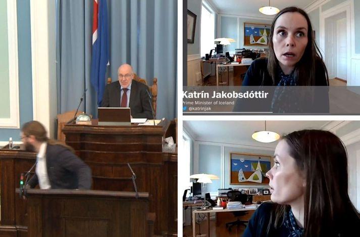 Viðbörgð Helga Hrafns Gunnarssonar og Katrínar Jakobsdóttur hafa vakið töluverða athygli.
