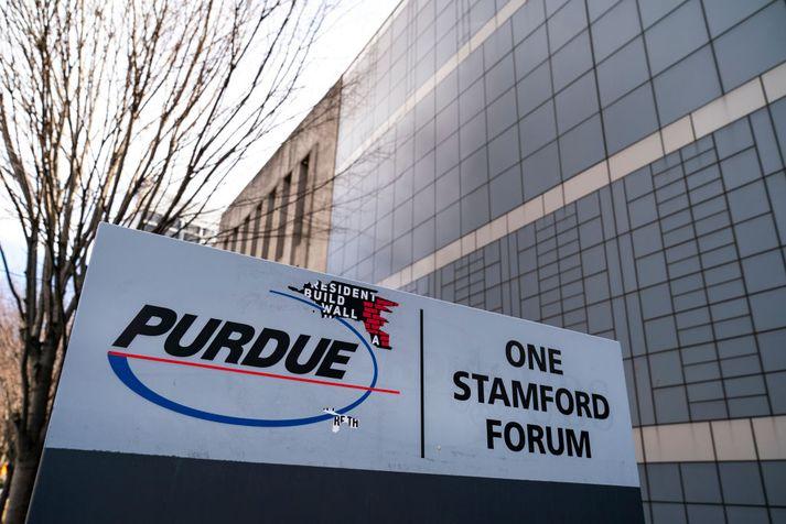 Purdue Pharma er eitt þeirra fyrirtækja sem talið er bera mesta ábyrgð á glæpsamlegri markaðssetningu ópíóðalyfja í Bandaríkjunum.