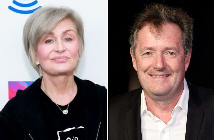 Sharon Osbourne og Piers Morgan eru gamlir vinir.