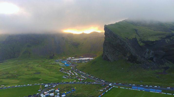 Frá Þjóðhátíð í Herjólfsdal.