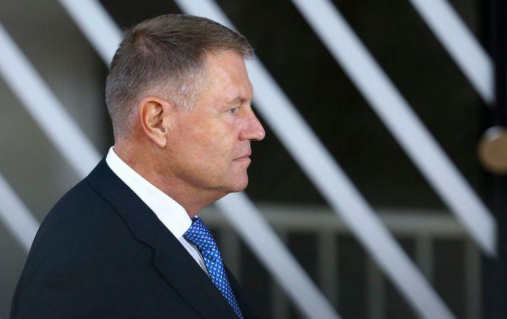Klaus Iohannis tók við forsetaembætti í Rúmeníu árið 2014.