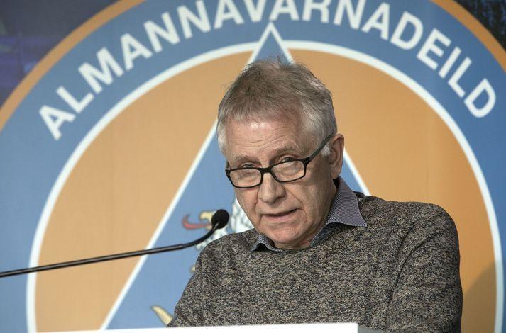 Þórólfur Guðnason á upplýsingafundi almannavarna í dag.