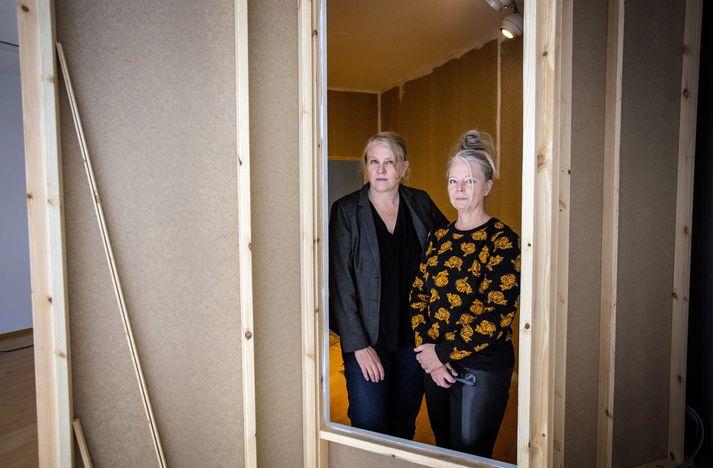 Olga og Anna en verk þeirra er sprottið úr reynslu við gerð listaverka fyrir fangelsið á Hólmsheiði.