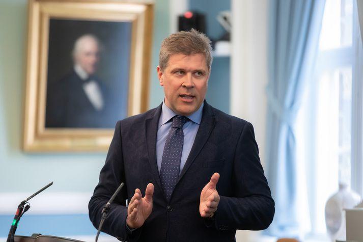 Bjarni Benediktsson fjármála- og efnahagsráðherra.