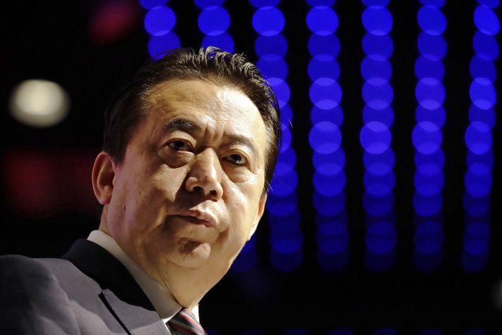 Meng Hongwei hefur gegnt embætti forseta Interpol frá árinu 2016.