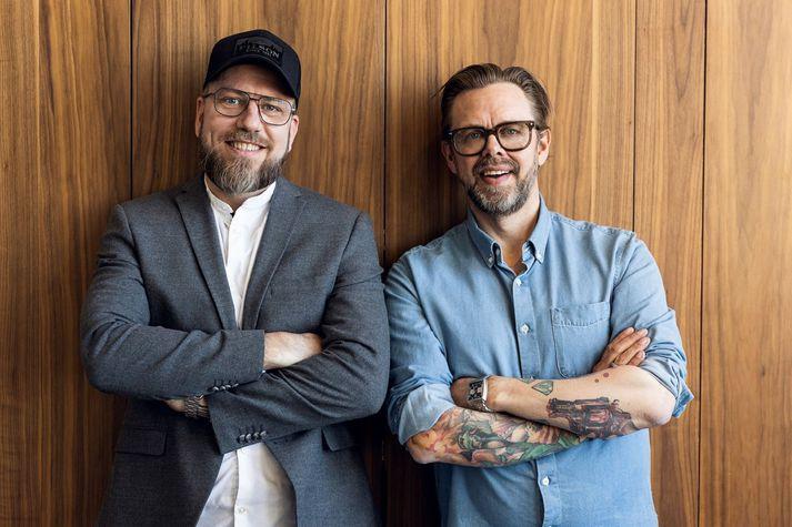 Viggó Vigfússon og Elías Guðmundsson, eigendur og æskuvinir.