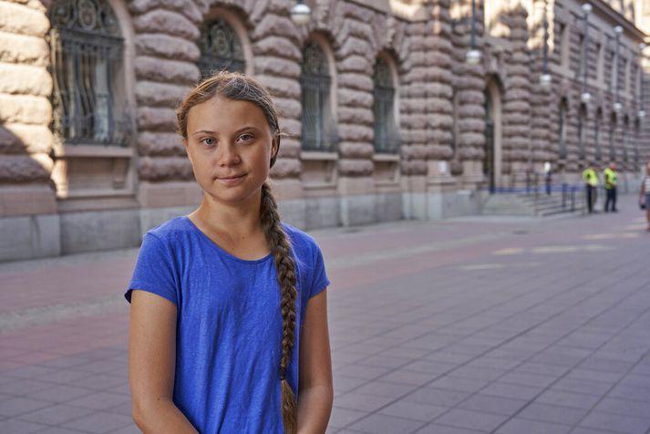 Greta Thunberg segir að sjóferðin á skútunni yfir Atlantshafið verið lengi í minnum höfð.
