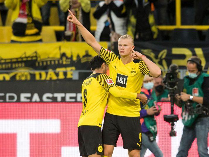 Erling Haaland hefur ekki átt í erfiðleikum með að skora mörk fyrir Dortmund.
