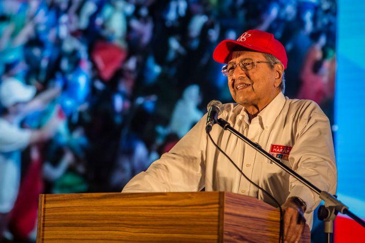 Mahathir Mohamad er 92 ára og verður þar með elsti forsætisráðherra í heimi.