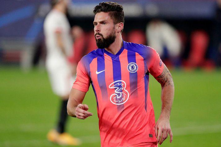 Olivier Giroud var alveg sjóðandi heitur í sigri Chelsea í Meistaradeildinni í gær.