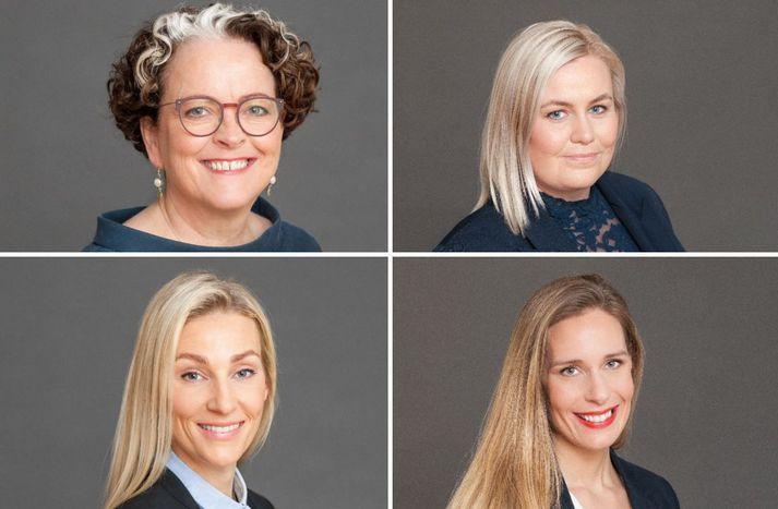 Ída Margrét Jósepsdóttir, Jóhanna Klara Stefánsdóttir, Lilja Björk Guðmundsdóttir og Sigríður Mogensen.