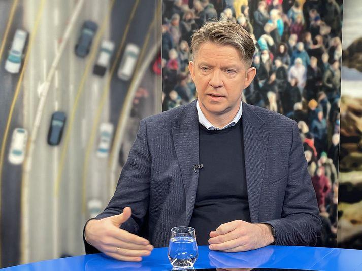 Bogi Nils Bogason, forstjóri Icelandair, segir markmið félagsins að þurfa ekki að grípa til þess að nota lánalínu með ríkisábyrgð.