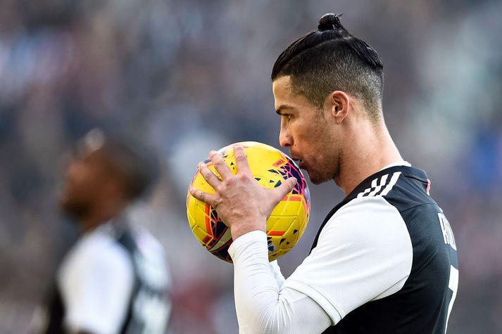 Cristiano Ronaldo er nú heima í Portúgal.