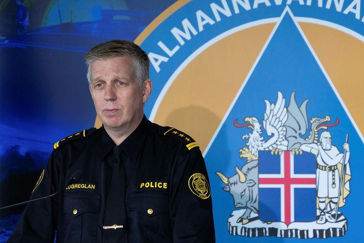 Víðir Reynisson, szef policji.