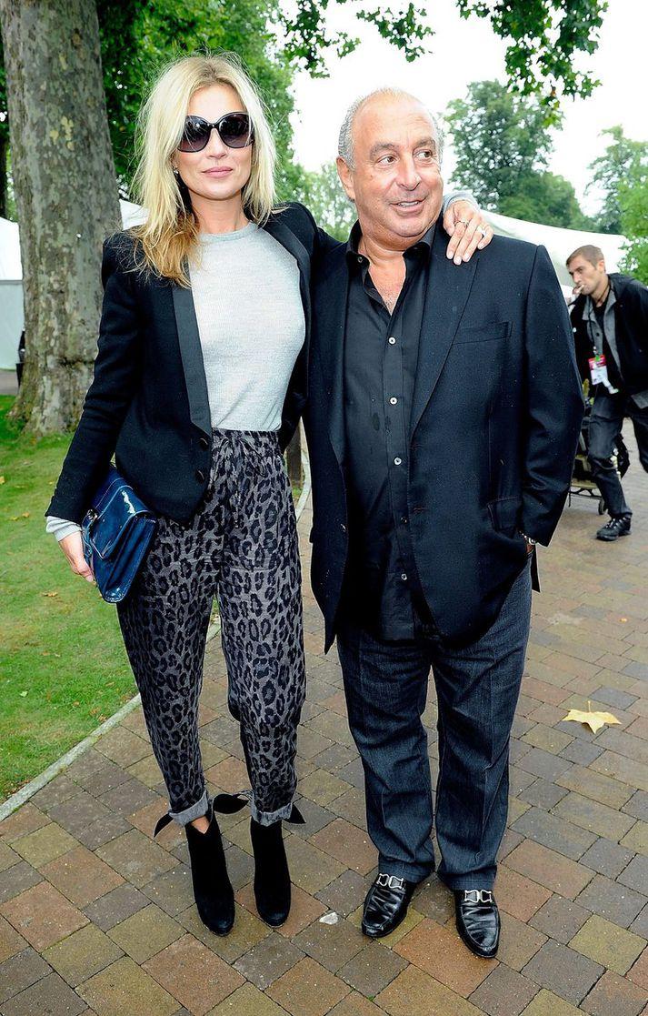 Phillip Green og Kate Moss á góðri stund.