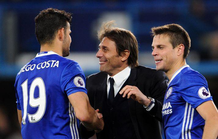 Costa og Conte þegar allt lék í lyndi.