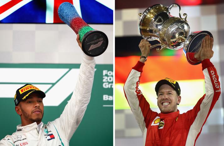 Lewis Hamilton og Sebastian Vettel berjast um heimsmestaratitil ökuþóra