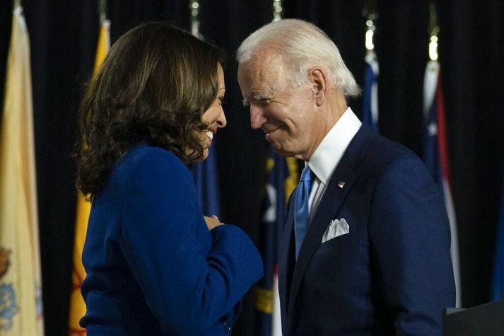 Joe Biden og Kamala Harris munu stýra Bandaríkjunum næstu fjögur árin.