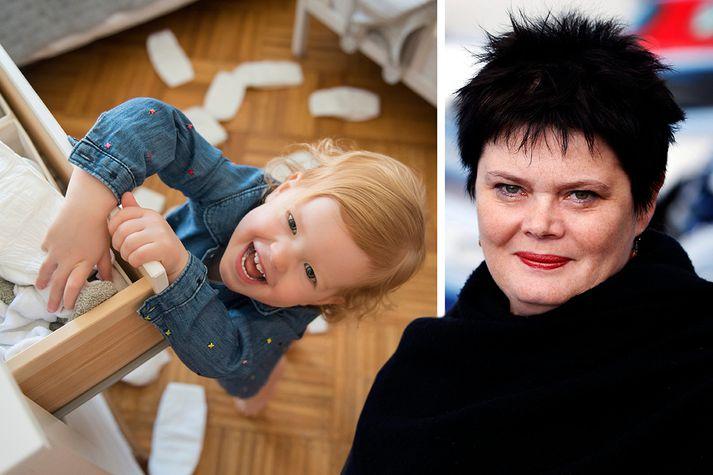 Herdís L. Storgaard hjá Slysavörnum barna gerði snjallsímaforrit í samstarfi við IKEA.