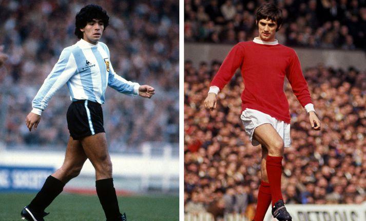 Diego Maradona og George Best létust sama dag, 25. nóvember.
