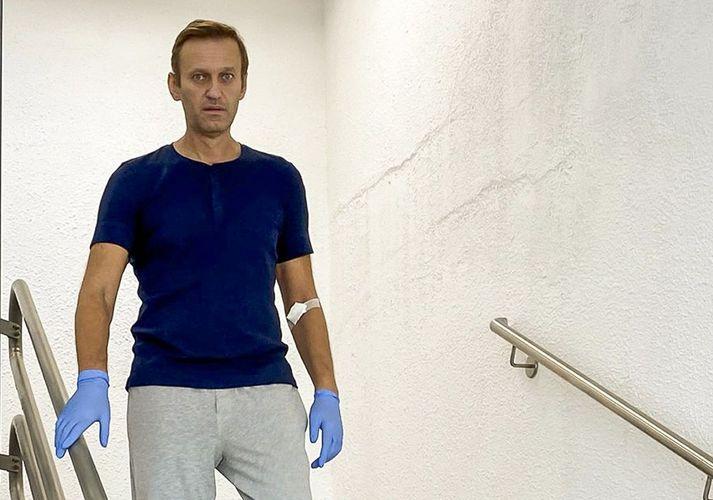 Alexei Navalní var útskrifaður af sjúkrahúsi í Þýskalandi í gær.