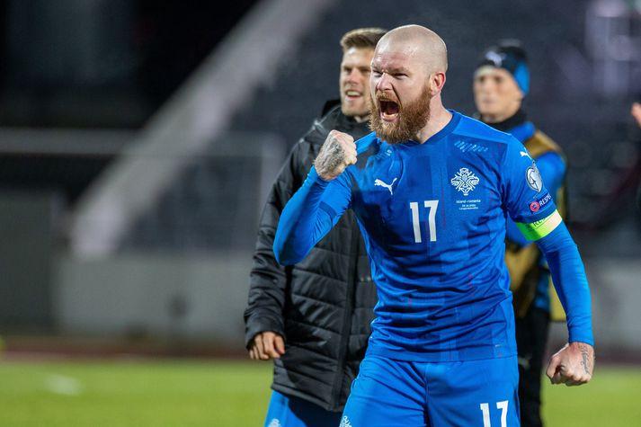 Aron Einar segir íslenska liðið einbeitt og tilbúið í leikinn gegn Ungverjum á fimmtudagskvöld.
