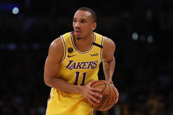 Avery Bradley var í stóru hlutverki hjá Los Angeles Lakers áður en tímabilið var stöðvað vegna kórónuveirufaraldursins.