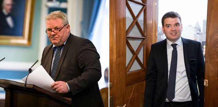 Sigurður Ingi Jóhannsson og Ásmundur Einar Daðason, ráðherrar Framsóknarflokksins.