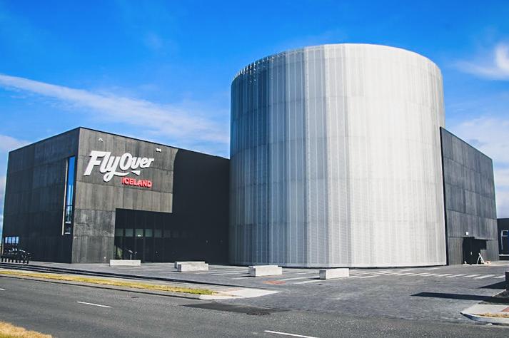 Frá húsnæði FlyOver Iceland á Granda.