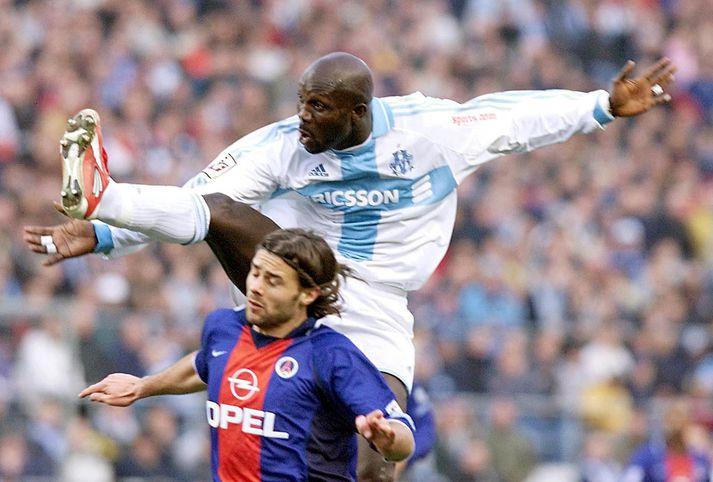 Weah í leik með Marseille.