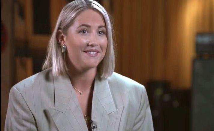 Sænska söngkonan, Molly Sandén, sem syngur fyrir hlutverk Rachel McAdams í Eurovison-mynd Will Ferrell.