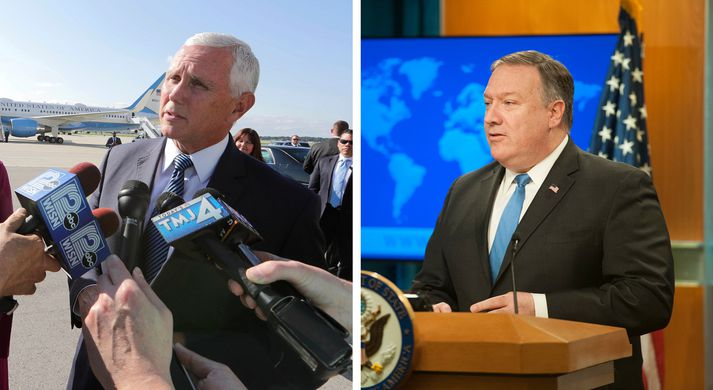 Mike Pence og Mike Pompeo.