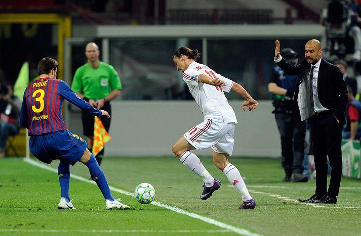 Zlatan ber ekki hlýjan hug til Guardiola