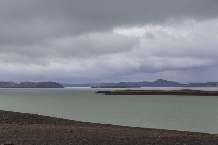 Við Þórisvatn.