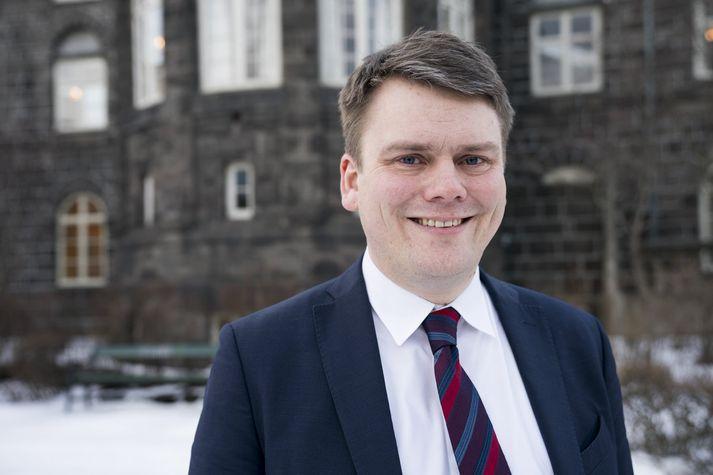 Andrés Ingi, þingmaður Vinstri grænna.