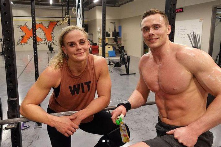 Sara Sigmundsdóttir og Björgvin Karl Guðmundsson eru miklir félagar.