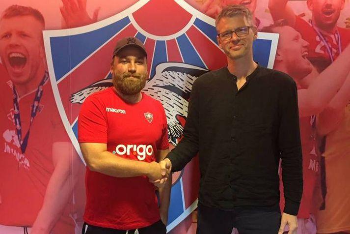 Finnur Freyr Stefánsson og Grímur Atlason, stjórnarformaður Vals.