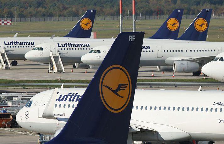Björgunarpakki þýska ríkisins kemur í veg fyrir gjaldþrot Lufthansa.