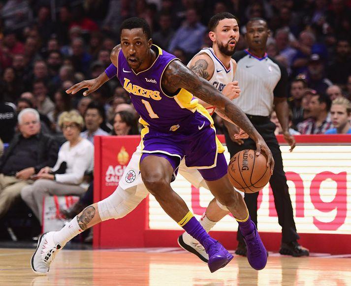 Caldwell-Pope í leik með Lakers.