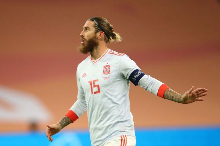 Sergio Ramos og félagar í spænska landsliðinu eru í baráttu um að komast í undanúrslit Þjóðadeildarinnar.