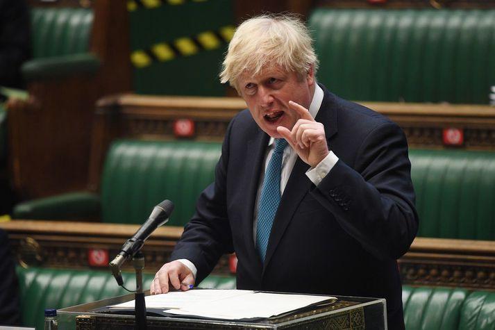 Boris Johnson, forsætisráðherra.