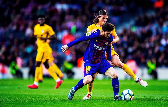 Filipe Luís segir að það hafi verið ómögulegt að dekka Lionel Messi á sínum tíma. Honum tókst þó ágætlega til enda var bakvörðurinn andandi ofan í hálsmálið á Argentínumanninum frá upphafi til enda er þeir mættust.