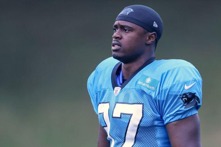 J.T. Ibe er nú atvinnulaus eftir gróft brot á æfingu með NFL-liðinu Carolina Panthers.