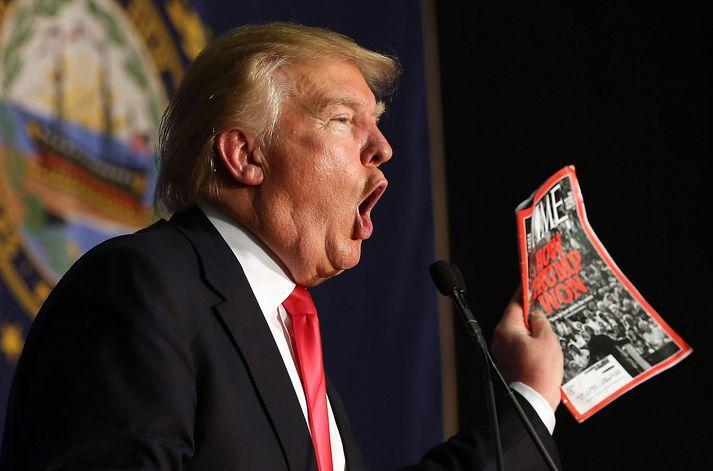 Donald Trump var maður síðasta árs að mat Time.