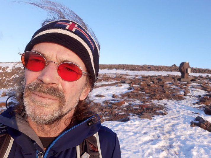 Andris Kalvans, göngumaðurinn sem er saknað á Snæfellsnesi.