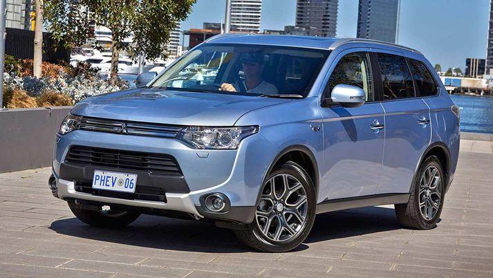 Mitsubishi Outlander PHEV er söluhæsta bílgerð Mitsubishi hérlendis.